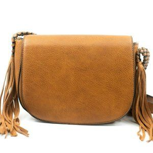 ANTIK KRAFT Crossbody Saddle Bag Purse Brown